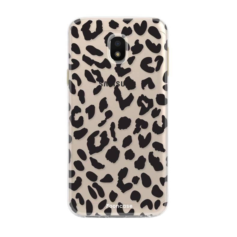 FOONCASE Samsung Galaxy J3 2017 hoesje TPU Soft Case - Back Cover - Luipaard / Leopard print