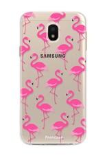 FOONCASE Samsung Galaxy J3 2017 hoesje TPU Soft Case - Back Cover - Flamingo