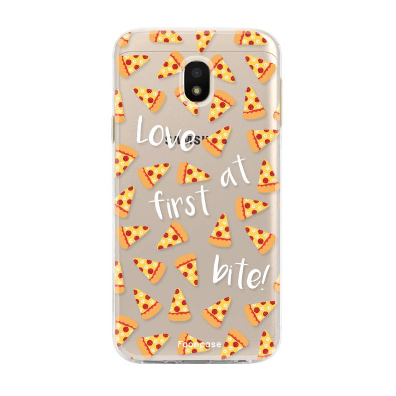 FOONCASE Samsung Galaxy J3 2017 hoesje TPU Soft Case - Back Cover - Pizza / Food