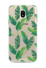 FOONCASE Samsung Galaxy J3 2017 hoesje TPU Soft Case - Back Cover - Banana leaves / Bananen bladeren