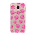 FOONCASE Samsung Galaxy J3 2017 - Pink leaves