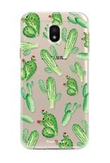 FOONCASE Samsung Galaxy J3 2017 hoesje TPU Soft Case - Back Cover - Cactus