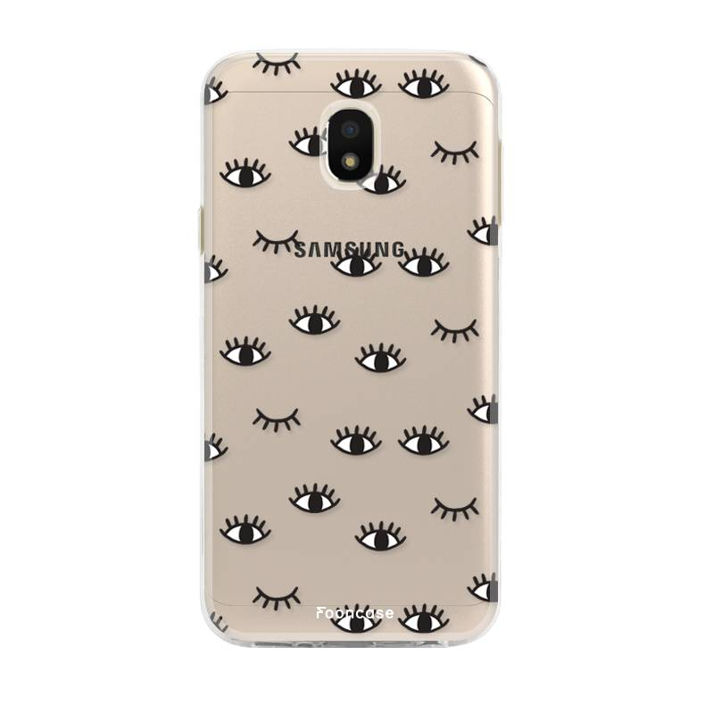 FOONCASE Samsung Galaxy J3 2017 hoesje TPU Soft Case - Back Cover - Eyes / Ogen