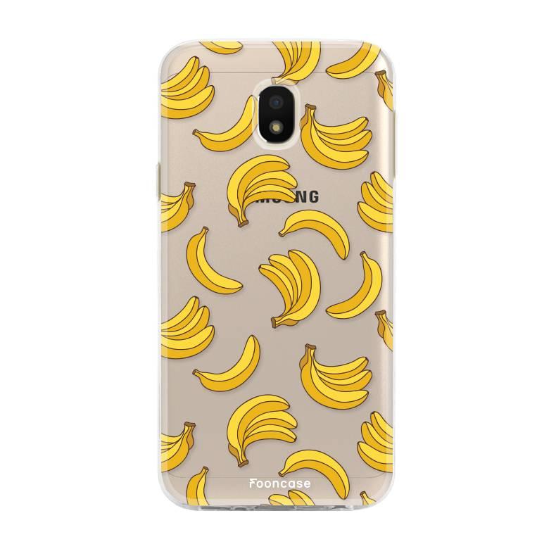 FOONCASE Samsung Galaxy J3 2017 hoesje TPU Soft Case - Back Cover - Bananas / Banaan / Bananen