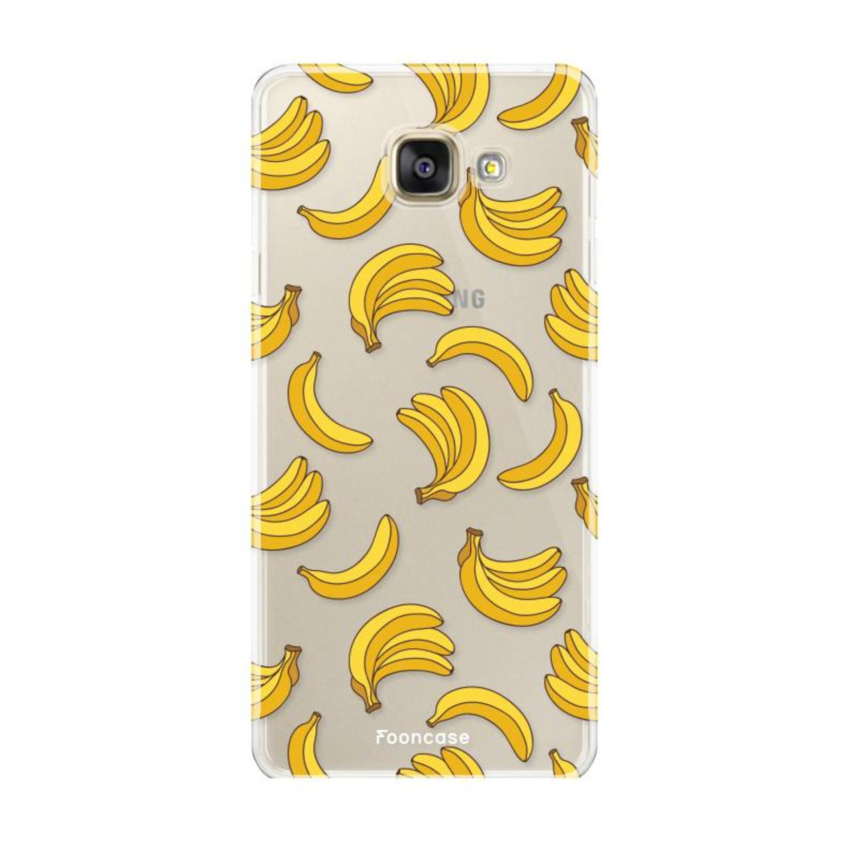 FOONCASE Samsung Galaxy A5 2016 hoesje TPU Soft Case - Back Cover - Bananas / Banaan / Bananen