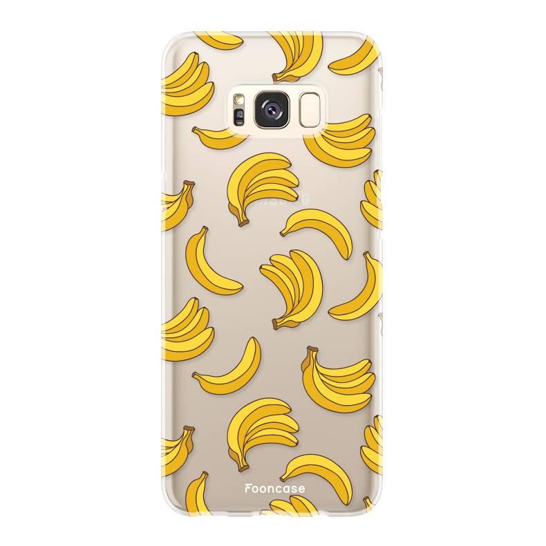 FOONCASE Samsung Galaxy S8 Plus hoesje TPU Soft Case - Back Cover - Bananas / Banaan / Bananen