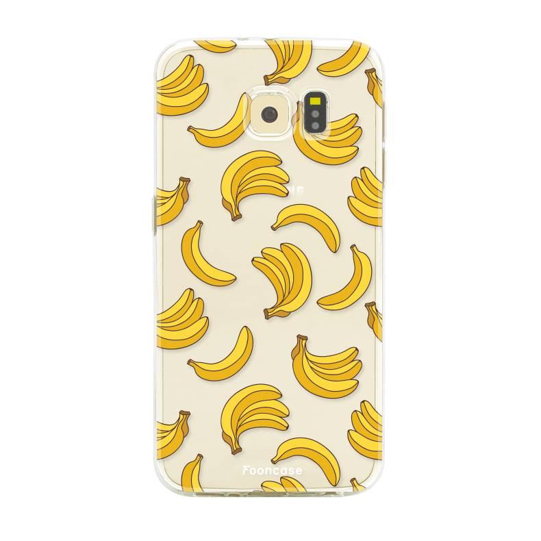 FOONCASE Samsung Galaxy S6 Edge hoesje TPU Soft Case - Back Cover - Bananas / Banaan / Bananen