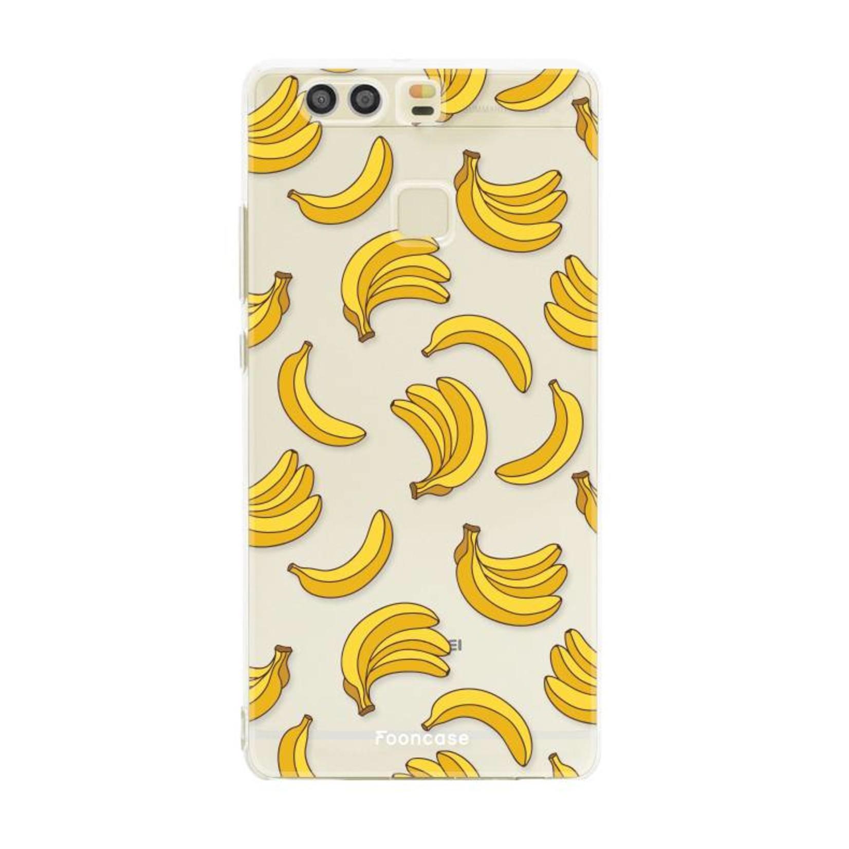 FOONCASE Huawei P9 hoesje TPU Soft Case - Back Cover - Bananas / Banaan / Bananen