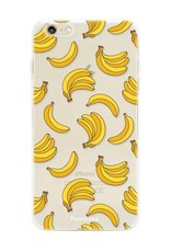 FOONCASE iPhone 6 Plus hoesje TPU Soft Case - Back Cover - Bananas / Banaan / Bananen
