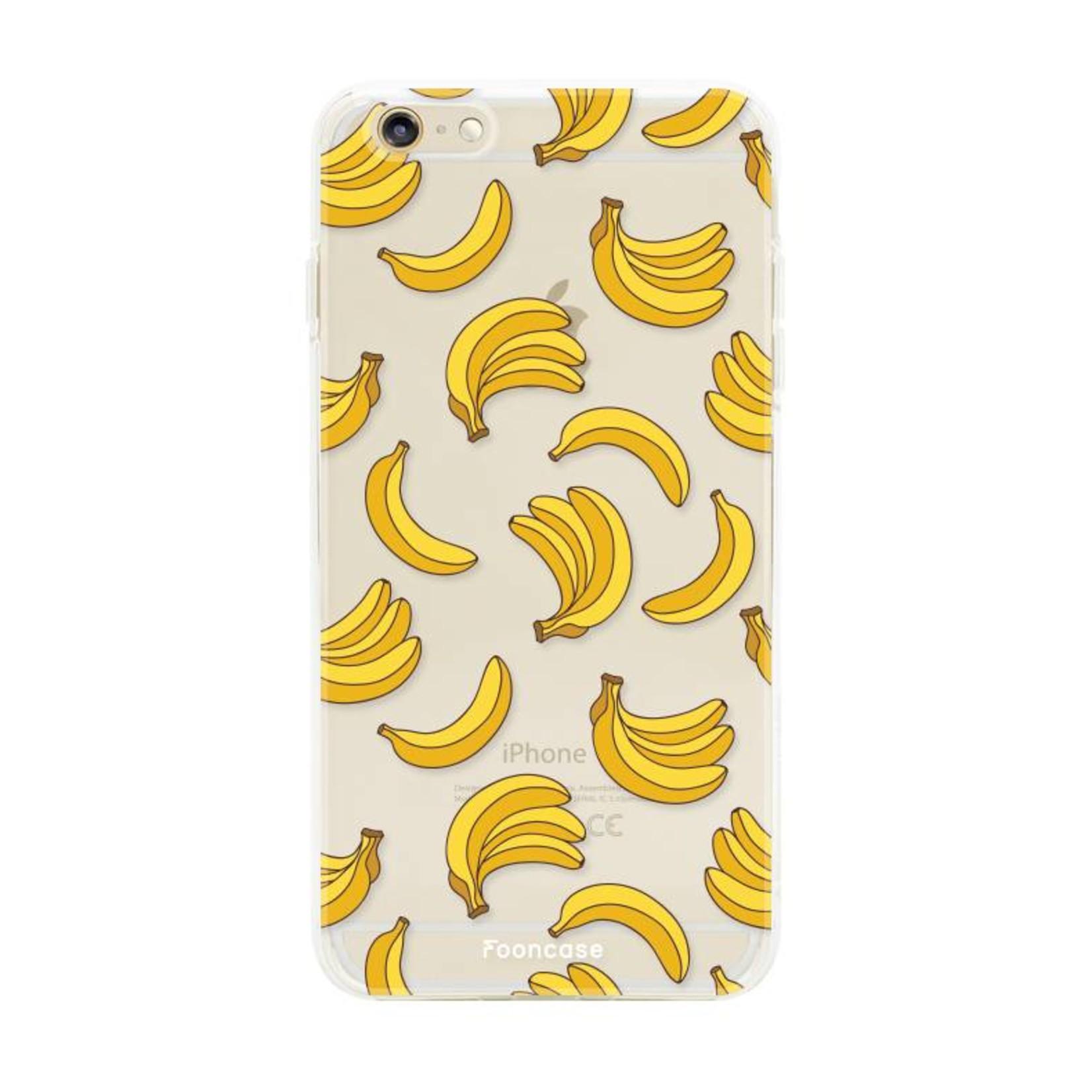 FOONCASE iPhone 6 Plus hoesje TPU Soft Case - Back Cover - Bananas / Banaan / Bananen