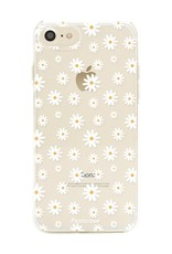 FOONCASE iPhone 8 hoesje TPU Soft Case - Back Cover - Madeliefjes