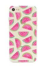 FOONCASE iPhone 8 hoesje TPU Soft Case - Back Cover - Watermeloen