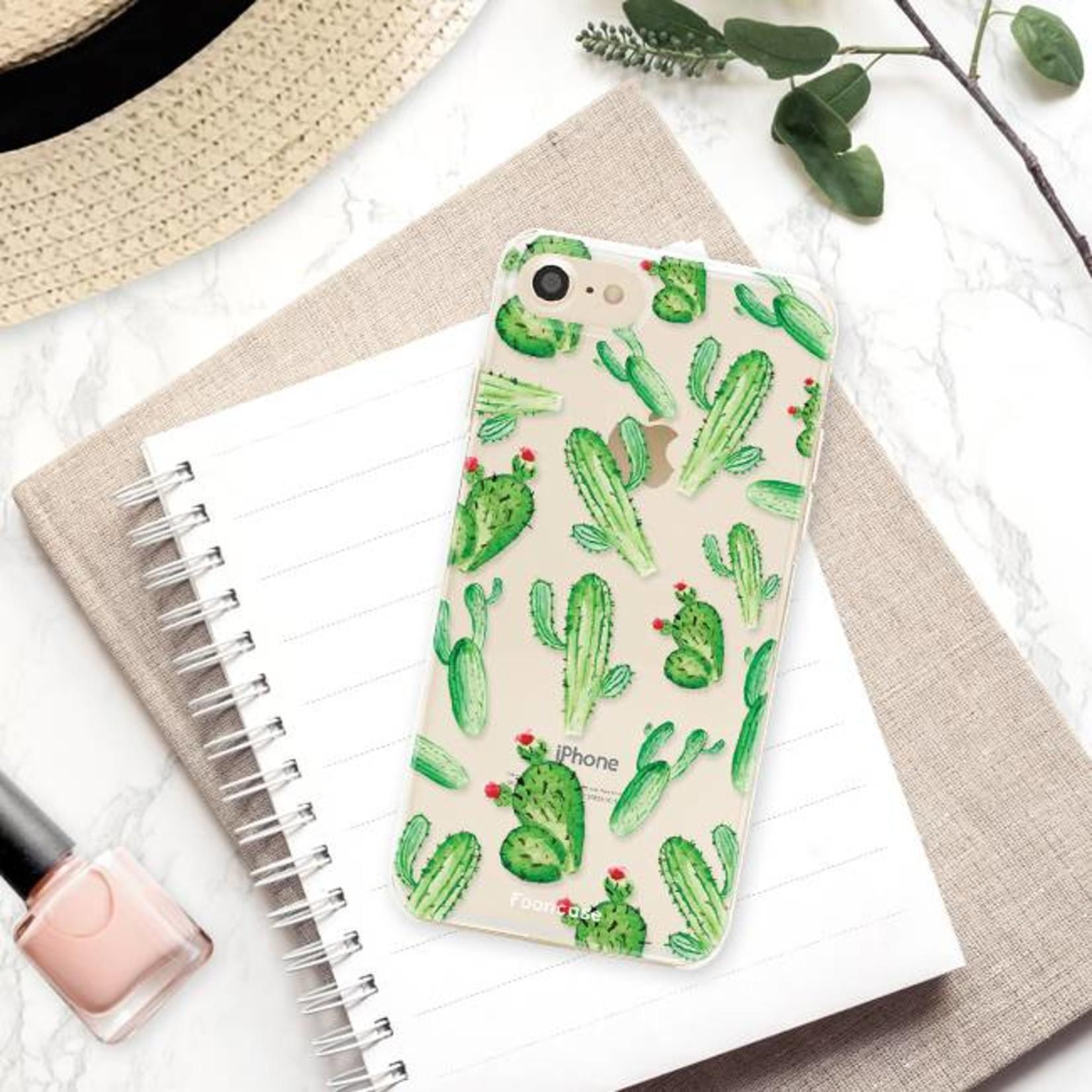 FOONCASE iPhone 8 hoesje TPU Soft Case - Back Cover - Cactus