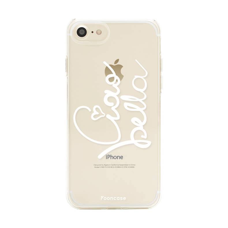 FOONCASE iPhone 8 hoesje TPU Soft Case - Back Cover - Ciao Bella!