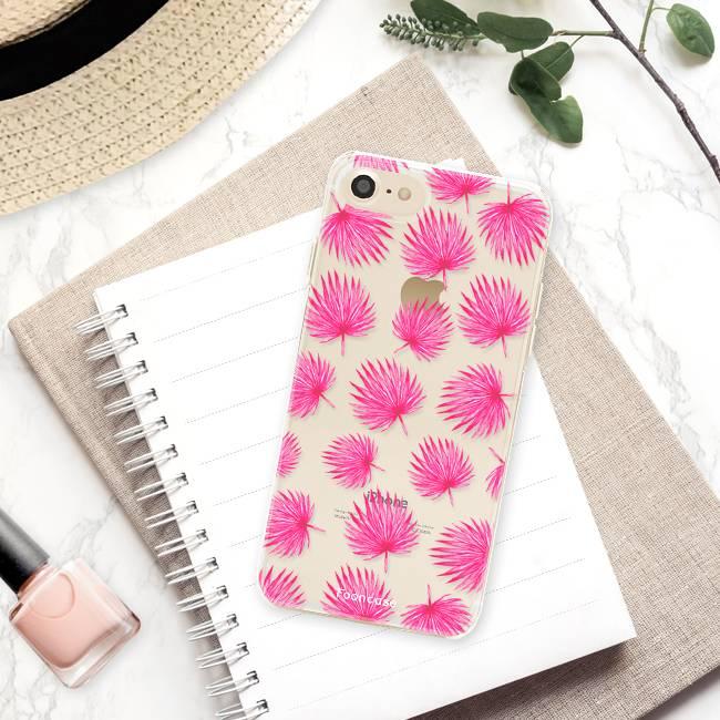 Apple Iphone 8 Handyhülle - Rosa Blätter