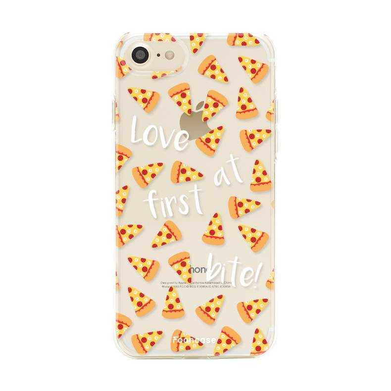 FOONCASE iPhone 8 hoesje TPU Soft Case - Back Cover - Pizza / Food