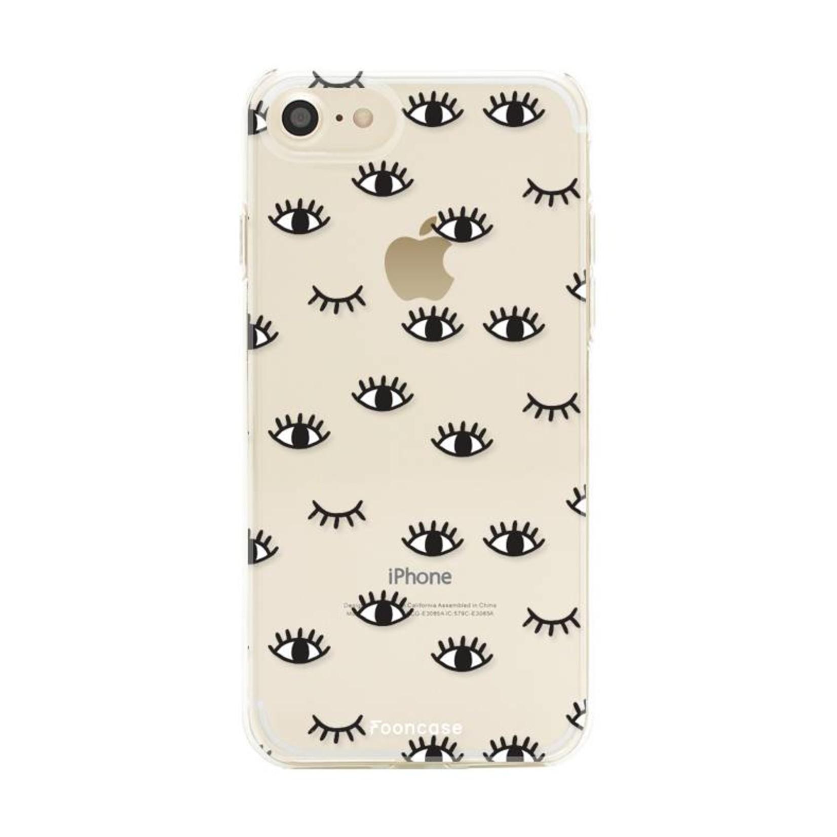 FOONCASE iPhone 8 hoesje TPU Soft Case - Back Cover - Eyes / Ogen
