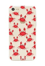 FOONCASE iPhone 8 hoesje TPU Soft Case - Back Cover - Crabs / Krabbetjes / Krabben