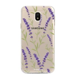 FOONCASE Samsung Galaxy J3 2017 - Purple Flower