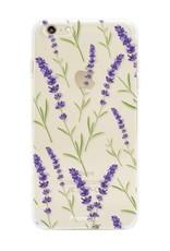 FOONCASE iPhone 6 Plus hoesje TPU Soft Case - Back Cover  - Purple Flower / Paarse bloemen