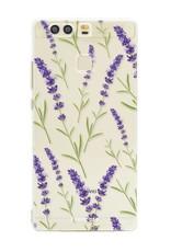 FOONCASE Huawei P9 hoesje TPU Soft Case - Back Cover - Purple Flower / Paarse bloemen