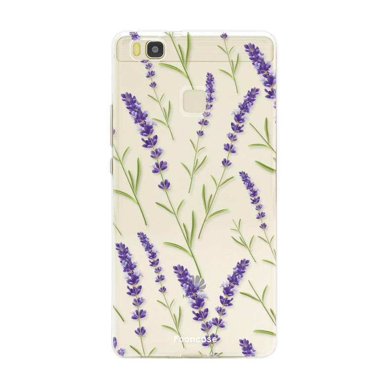 FOONCASE Huawei P9 Lite hoesje TPU Soft Case - Back Cover - Purple Flower / Paarse bloemen
