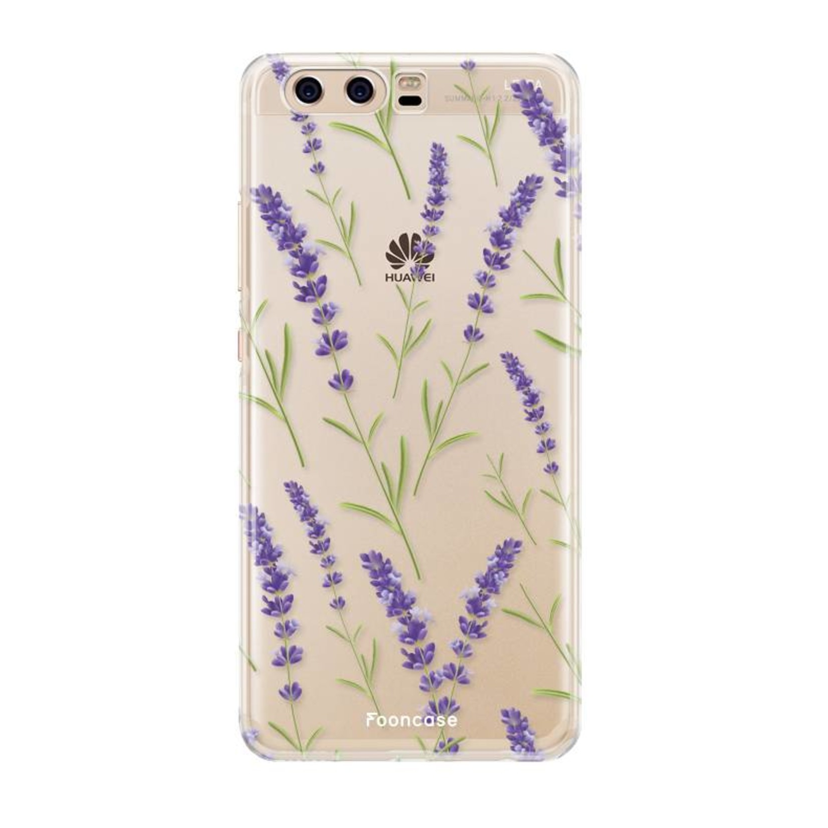 FOONCASE Huawei P10 hoesje TPU Soft Case - Back Cover - Purple Flower / Paarse bloemen