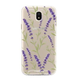 FOONCASE Samsung Galaxy J5 2017 - Purple Flower