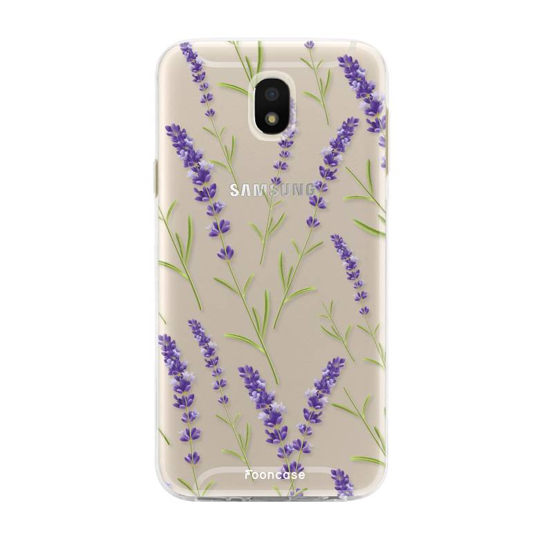 FOONCASE Samsung Galaxy J5 2017 - Purple Flower