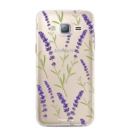 FOONCASE Samsung Galaxy J3 2016 - Purple Flower