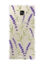 FOONCASE Samsung Galaxy A3 2017 hoesje TPU Soft Case - Back Cover - Purple Flower / Paarse bloemen
