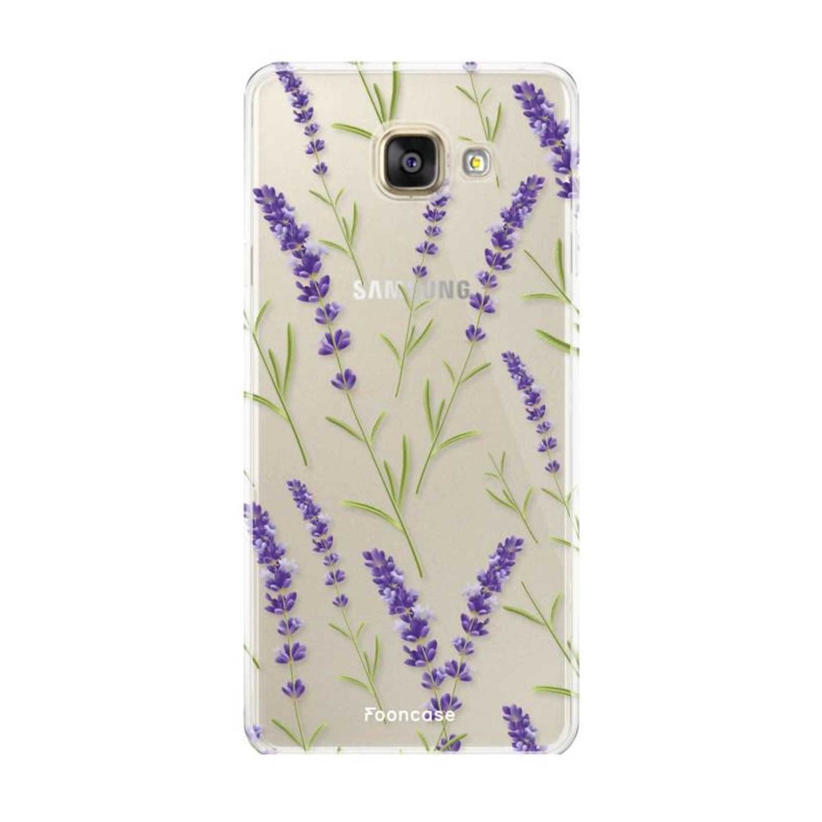 FOONCASE Samsung Galaxy A3 2017 hoesje TPU Soft Case - Back Cover - Purple Flower / Paarse bloemen