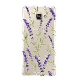 FOONCASE Samsung Galaxy A3 2017 - Purple Flower