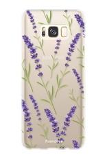 FOONCASE Samsung Galaxy S8 hoesje TPU Soft Case - Back Cover - Purple Flower / Paarse bloemen