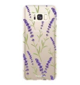 FOONCASE Samsung Galaxy S8 - Purple Flower