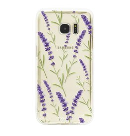 FOONCASE Samsung Galaxy S7 Edge - Purple Flower