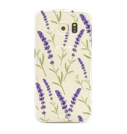 FOONCASE Samsung Galaxy S6 Edge - Purple Flower