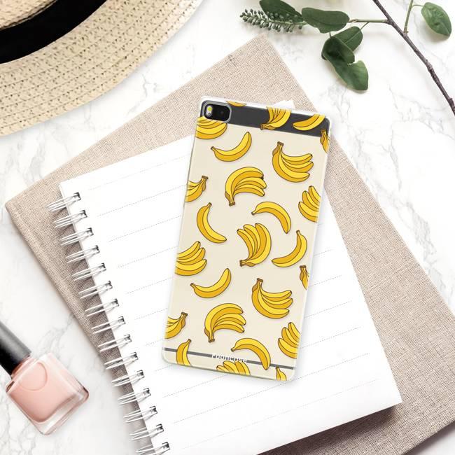 FOONCASE Huawei P8 hoesje TPU Soft Case - Back Cover - Bananas / Banaan / Bananen