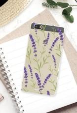 FOONCASE Huawei P8 Lite 2016 hoesje TPU Soft Case - Back Cover - Purple Flower / Paarse bloemen