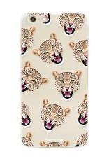 FOONCASE iPhone 6 Plus hoesje TPU Soft Case - Back Cover - Cheeky Leopard / Luipaard hoofden