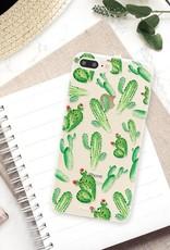 FOONCASE iPhone 8 Plus hoesje TPU Soft Case - Back Cover - Cactus