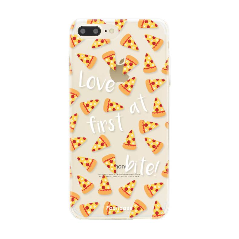FOONCASE iPhone 8 Plus hoesje TPU Soft Case - Back Cover - Pizza / Food