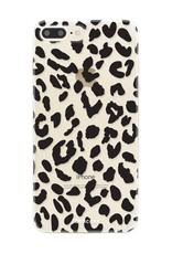 FOONCASE iPhone 8 Plus hoesje TPU Soft Case - Back Cover - Luipaard / Leopard print