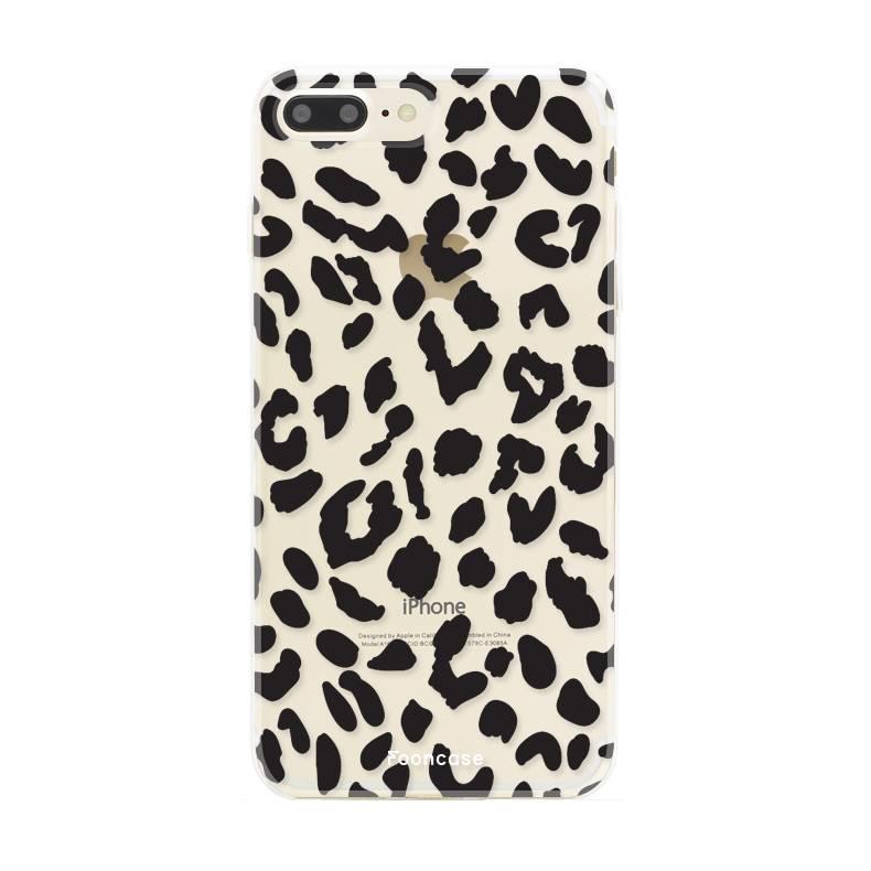 Apple Iphone 8 Plus hoesje - Luipaard print
