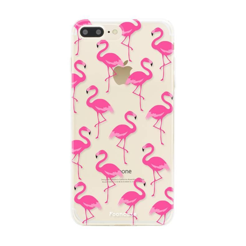 FOONCASE Iphone 8 Plus Handyhülle - Flamingo