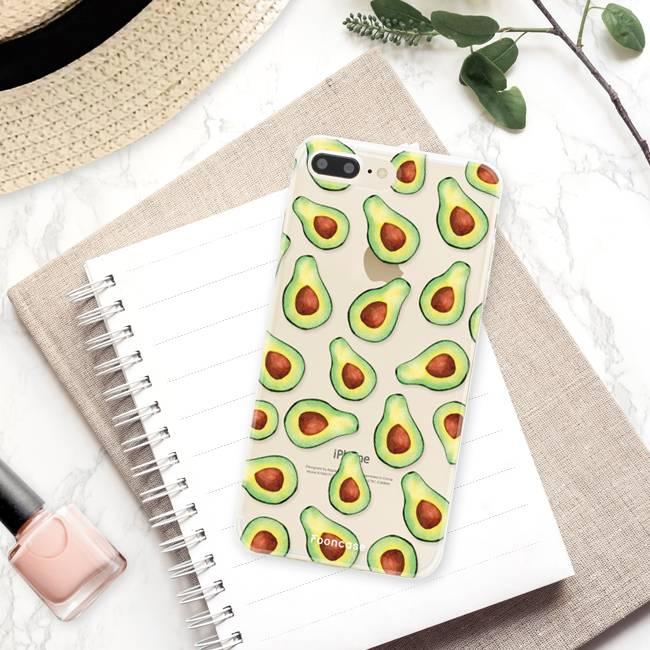 FOONCASE iPhone 8 Plus hoesje TPU Soft Case - Back Cover - Avocado