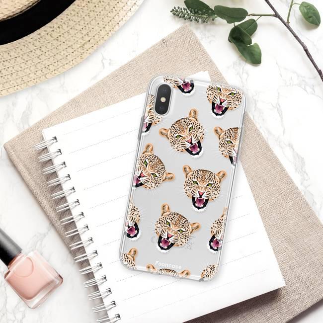 Apple Iphone X Handyhülle - Cheeky Leopard