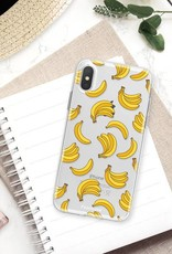 FOONCASE iPhone X hoesje TPU Soft Case - Back Cover - Bananas / Banaan / Bananen