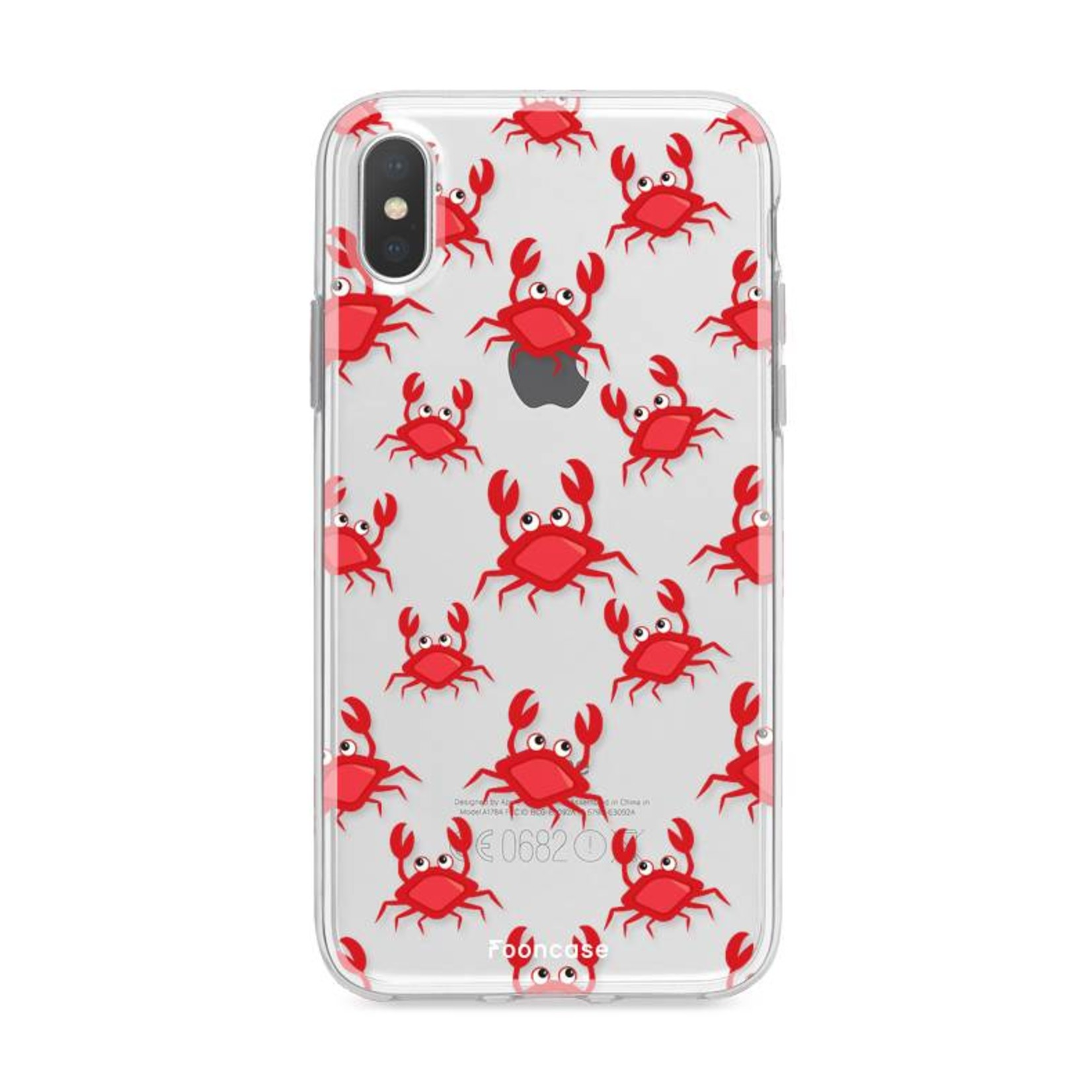 FOONCASE Iphone X Handyhülle - Krabben