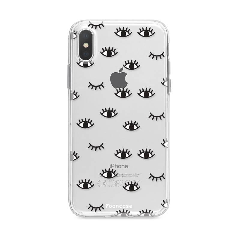 FOONCASE iPhone X hoesje TPU Soft Case - Back Cover - Eyes / Ogen